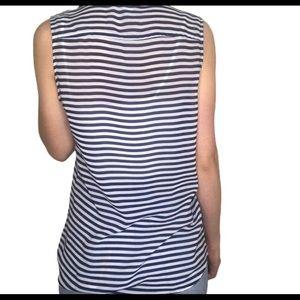 Banana Republic Tops - Banana republic striped button down sleeveless top
